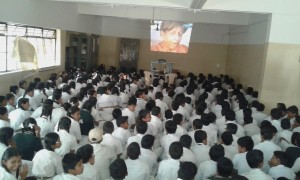 LCD shows of CFSI films screened in schools