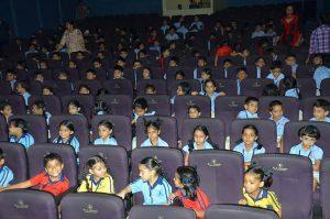 Students enjoying the screening